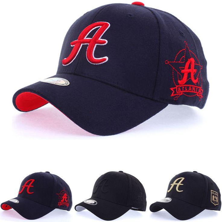 Unisex Mens Womens Atlanta Braves A Logo Flexfit Baseball Cap Stretch Fit Hats #hellobincom #BaseballCapHats