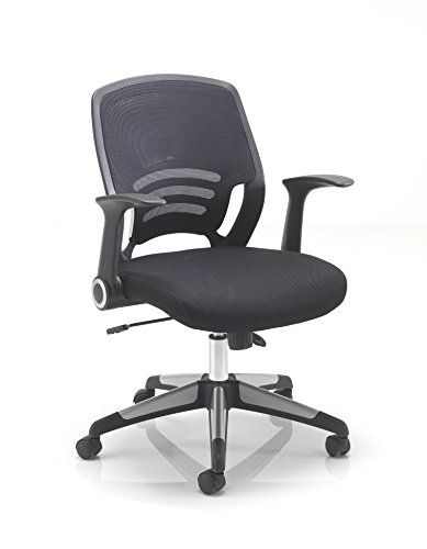 3ec6208d46a9 Office Hippo Mesh Back Office Desk Chair with Retractable Arms ...