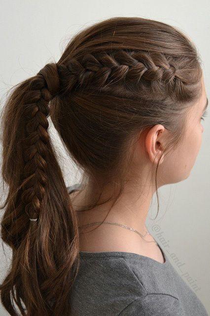 60 Hübsche und einfache lange Frisuren für Schulmädchen - #einfache #frisuren...