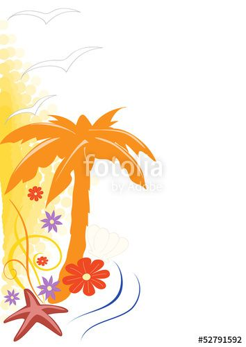 Summer palm background