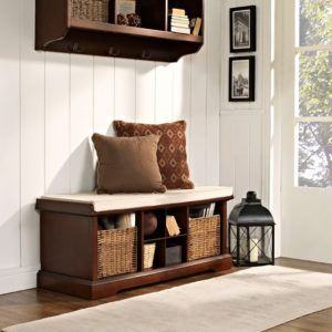 Leather Storage Benches For Entryway