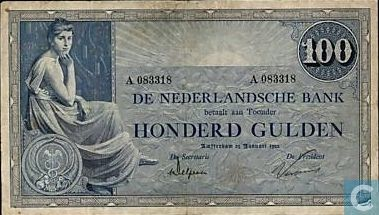 Bankbiljet - Bekende Nederlanders - 100 gulden Nederland 1921