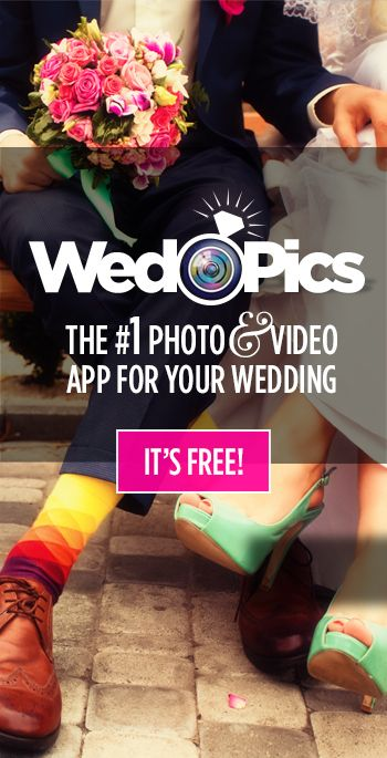 "WedPics - The #1 Photo & Video Sharing App For Weddings! And we're using it for ours! Search ""WedPics"" in App Store/Google Play! Our user ID is SarahMarshall14. Please add this to your phones to share pictures of our special day!"