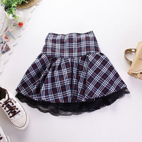 <b>7 colors High quality</b> school uniform skirt fashion plaid short skirt ...