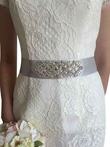 Lemandy Handmade Vintage Crystal Beaded Bridal Sash Weddi…