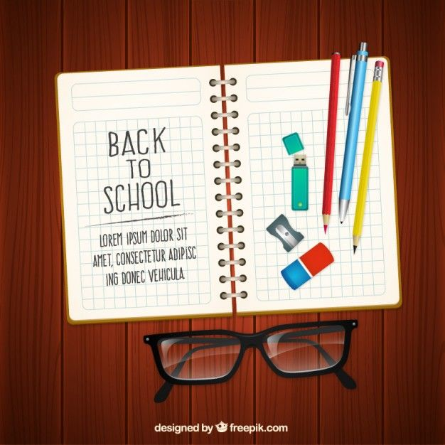 Free vector Back to school notebook #5765
