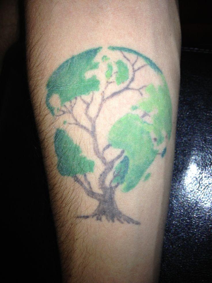 tree globe tattoo tattoos pinterest trees beautiful