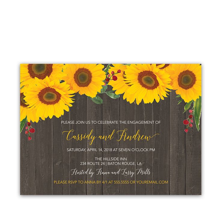 36 best Sunflower Wedding Invitations Unique and Creative Rustic ...