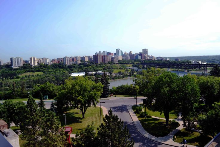A view of downtown Edmonton, Alberta, Canada from the University of Alberta North Campus.