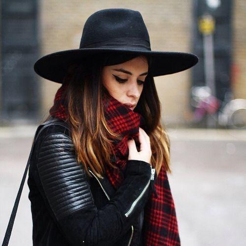 Women's Triangle Dent Crown Hat Luxury Wide Brim Black Wool Felt Fedora Bow #Handmade #FedoraTrilby