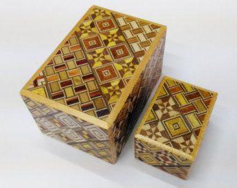 Japanese Puzzle box Himitsu bako HEXAGON 115mm 4.5inch