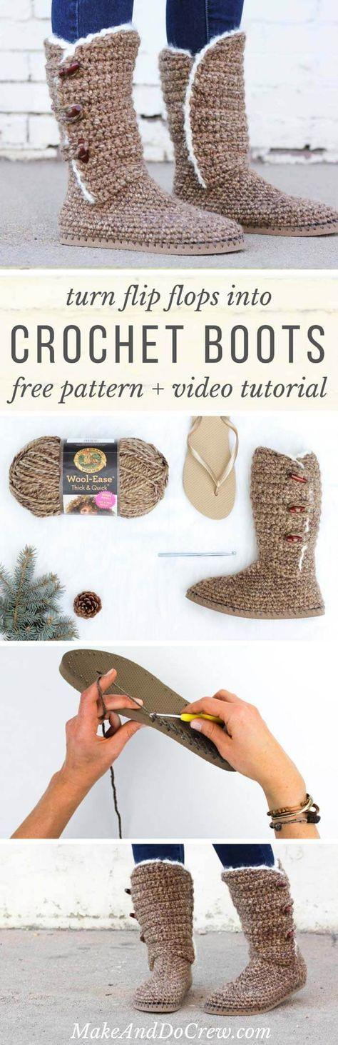 Learn How To Make Crochet Patterns : 25+ best Crochet boots ideas on Pinterest Diy crochet ...