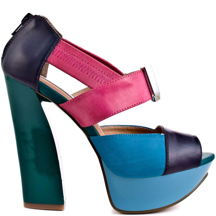 yes please. size 9.Multi Colors, Green Heels, Shoes Fit, Colors Chunky, People Multi, Woman Shoes, Shoes Mad, Heels Obsession, Summer Colors