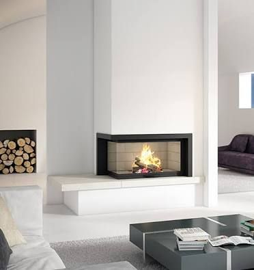 double sided fireplace - Google Search
