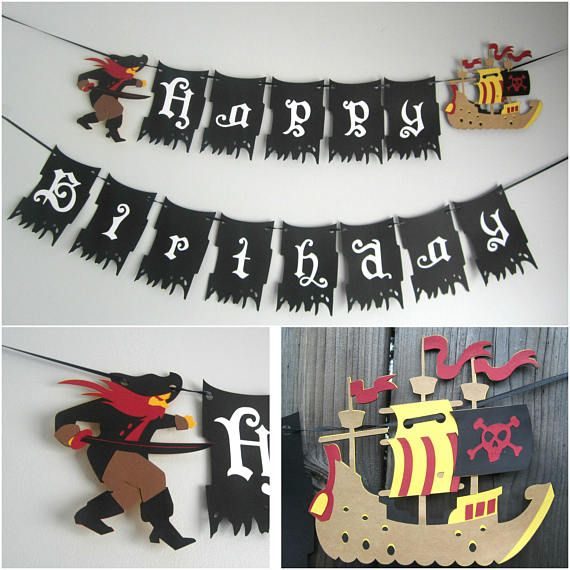 Pirate Theme Party Decoration Ideas Part - 16: Pirate Theme Banner Pirate Party Decoration Pirate Ship