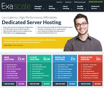 A new website has been submitted to our directory:  Category: Internet  Name: Exascale Link: http://www.exascale.co.uk/ Description: A great place to find reliable UK Dedicated Server Hosting and Dedicated Servers along with Virtual Private Server, Cloud Hosting, Web Hosting and Cloud VPS and cheap domain names.