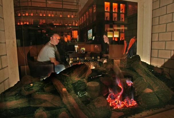 RumBa Intercontinental Boston-area restaurants and bars with cozy fireplaces