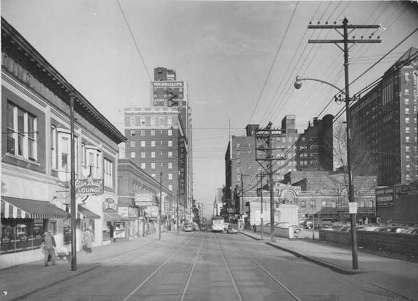Downtown Kc 1950 Note The Hotel Phillips On The Left
