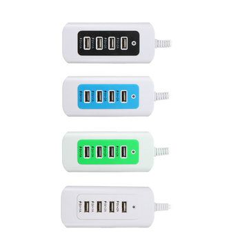 5V 4 Ports USB LED Wall Charger Power Adapter US Plug For iPhone7 Samsung Tablet Sale - Banggood.com