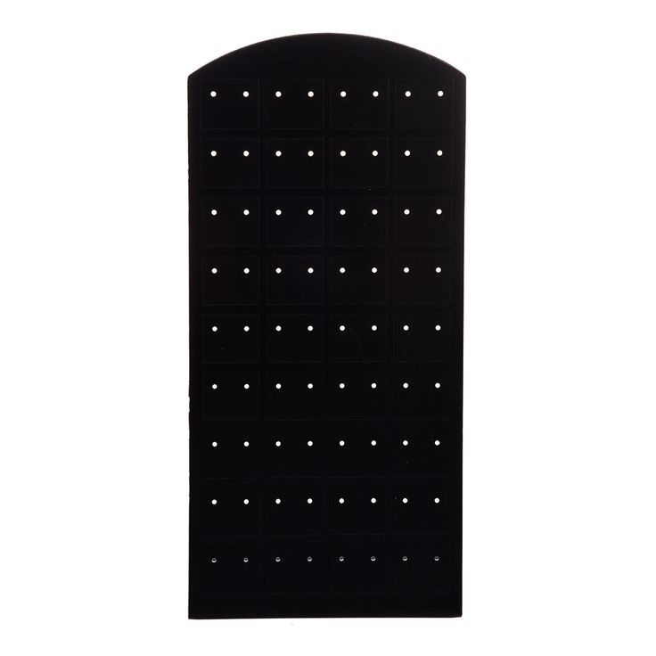 Fashion Plastic Display Jewelry Ear Stud Earrings Holder Display Show Case Stand Black
