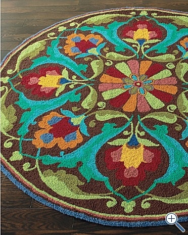 pretty rug by suzetteDecor, Gardens Hooks, Colors Combos, Garnet Hills, Living Room, Wool Rugs, Accent Colors, Porcelain Gardens, Hooks Wool