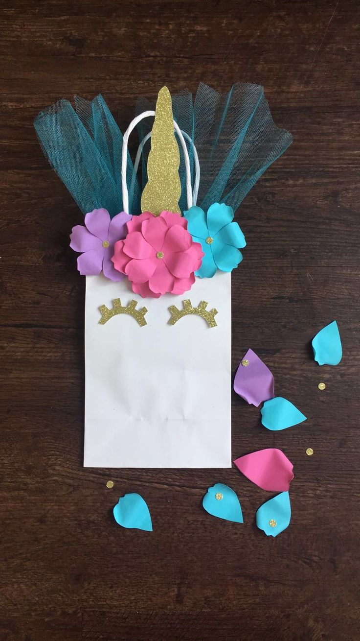 Birthday gift bags 5 cooking for oscar - Unicorn Birthday Party Favor Bags