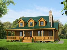 Two-Story House Plan, 062H-0031, Two Master Suites