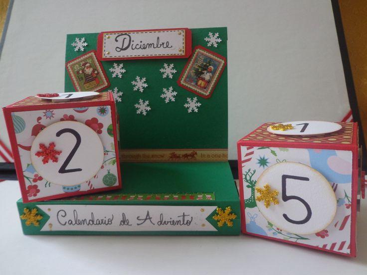 Un cubo calendario de Adviento...!!!!!!!!!