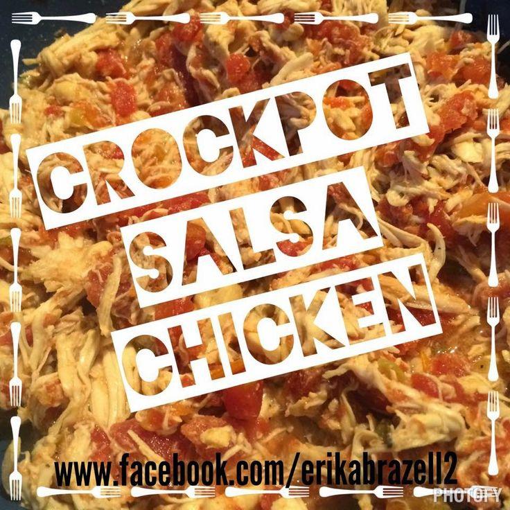 crockpot, salsa chicken, healthy, one dish, one pot, shredded chicken, 21 day fix