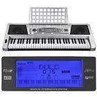 61 Key Music Digital Electronic Keyboard Electric Piano LCD Organ 3 Lesson Mode