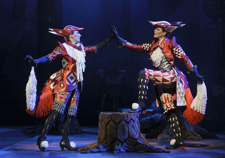 """Klaus Haapaniemi's design for """"Cunning Little Vixen"""" opera.  Vixen & Fox"""