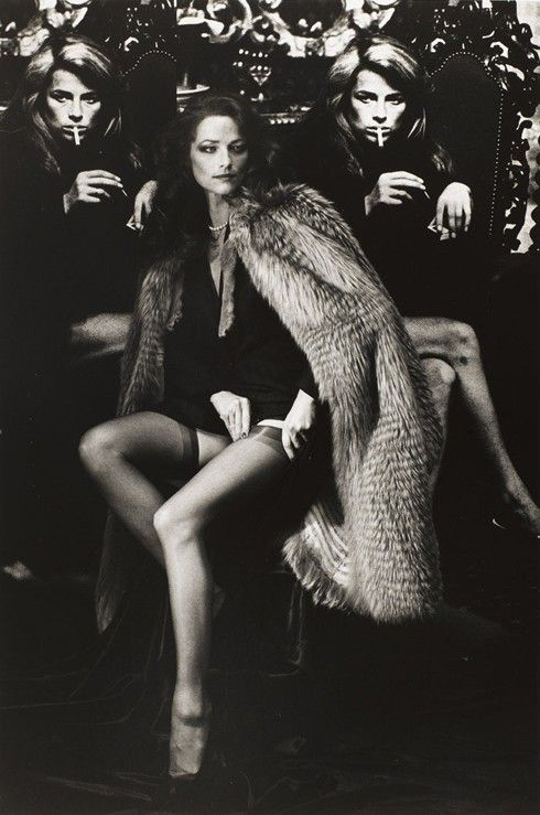 Charlotte Rampling by Helmut Newton, Paris 1982 via tambourine-girl.tumblr.com