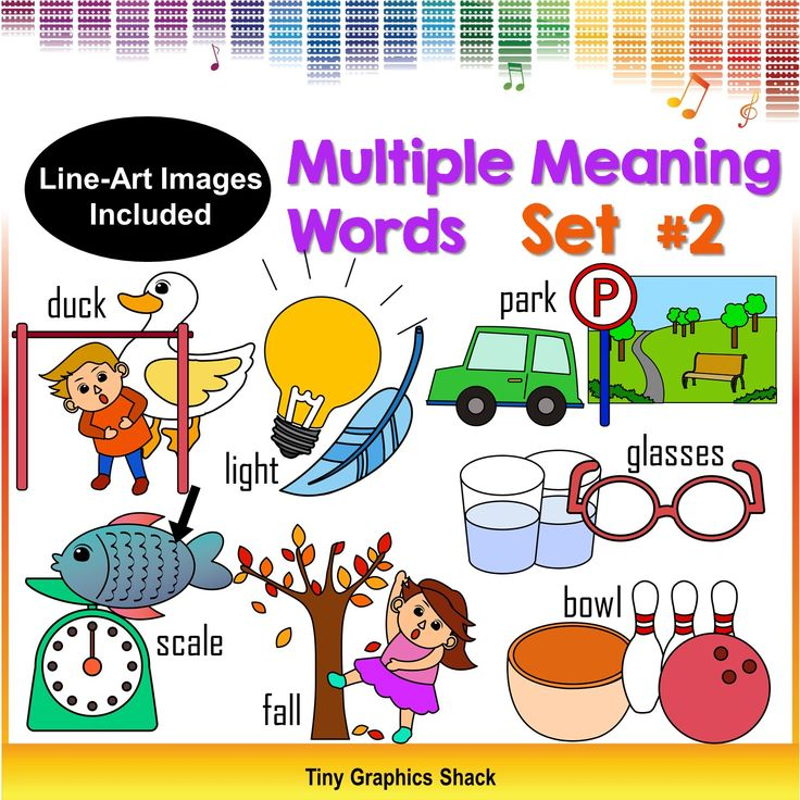 multiple meaning words - homonym clip art