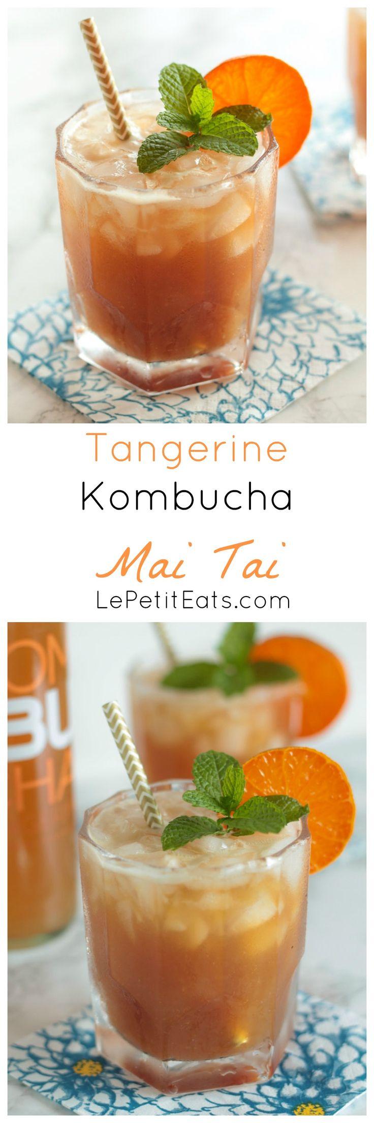 Tangerine Kombucha Mai Tai