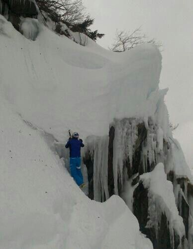 It is raining, so no skiing today. But icefall climbing is a good alternative! #kilpisport #kilpilife