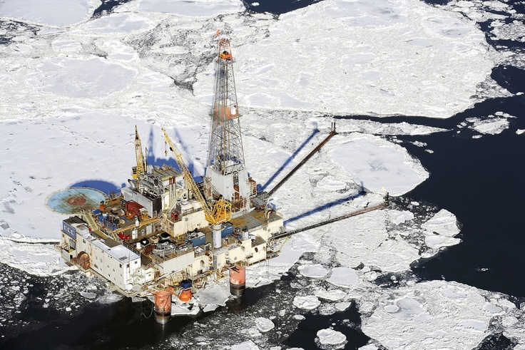 Off shore oil rig Cook Inlet Alaska in Winter - Thanks to Mark's Professional Photography for image