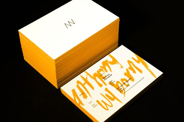 Personal Branding by Anthony Wyborny, via Behance