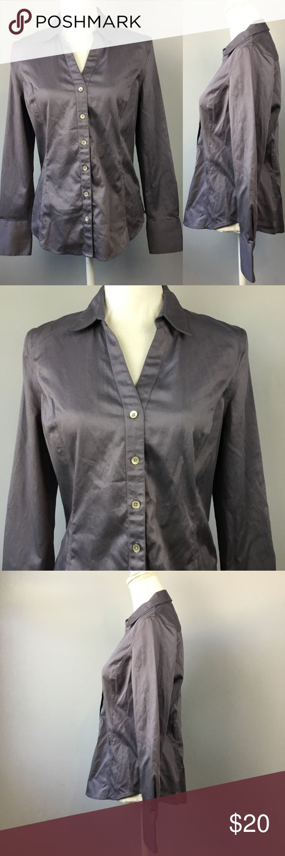 """Calvin Klein Button Down Long Sleeve Top Medium Calvin Klein Fitted Button Down Long Sleeve Top Womens Medium Non Iron Shirt  Measurements are laying flat •Underarm to underarm 19"""" •Length 22"""" from shoulder to hem Please check out my other items for more sizes and styles! Calvin Klein Tops Button Down Shirts"""