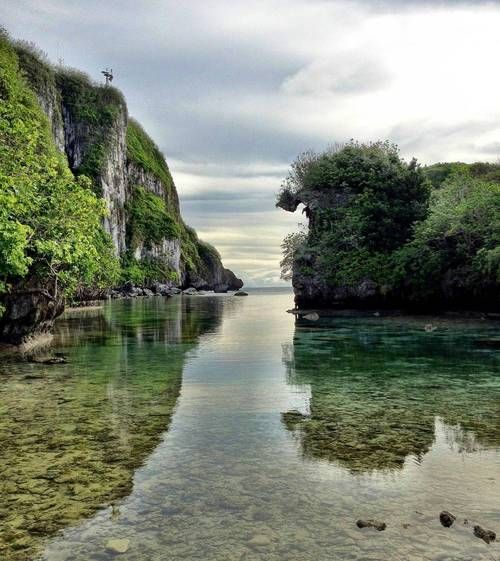 Spanish Steps Lagoon in Guam, Mariana Islands..... Been here and this is just what it looks like! Breathtaking