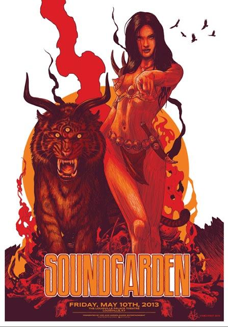 Cool Art: 'Soundgarden 2013-05-10 Louisville' by Vance Kelly