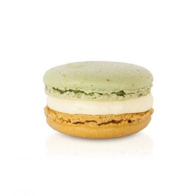 Pear & Ginger Macaron. A pear and fresh ginger buttercream filling - one of most popular macarons of previous collections