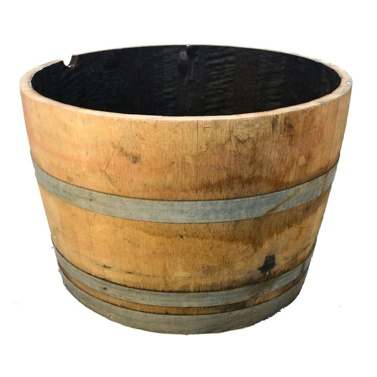 And 18 In Tall Half Oak Barrel Planter