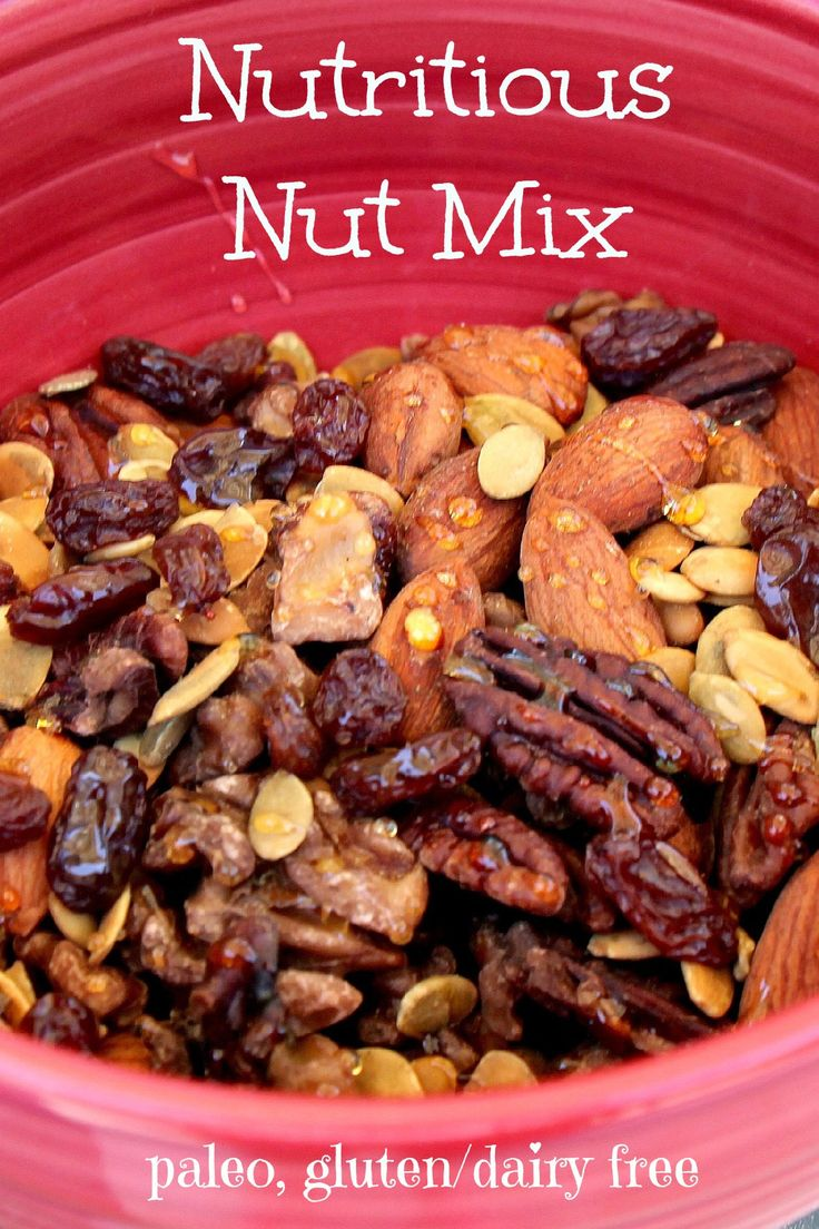 Nutritious nuts for a paleo snack! YUM YUM! Whole30 compliant if you minus the honey!