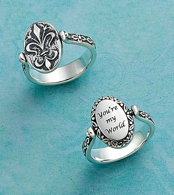 Christmas Collection: Secret Message Ring shown with Laser Engraving (Style S3) #JamesAvery