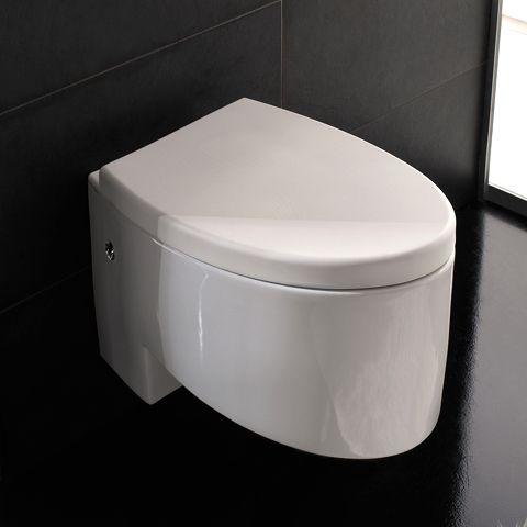 8208 Scarabeo  Scarabeo Zefiro, Vegghengt toalett 525x350 mm. Hvit