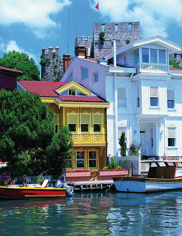 Wooden Houses and Castle of Anadolu, Bosphorus, Istanbul