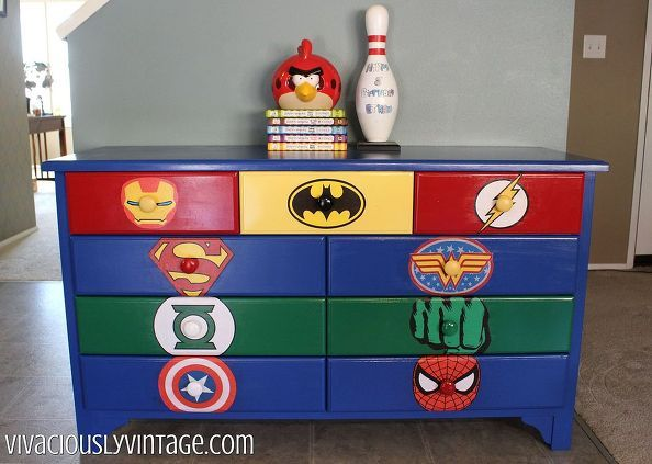 Kid S Superhero Diy Dresser Makeover