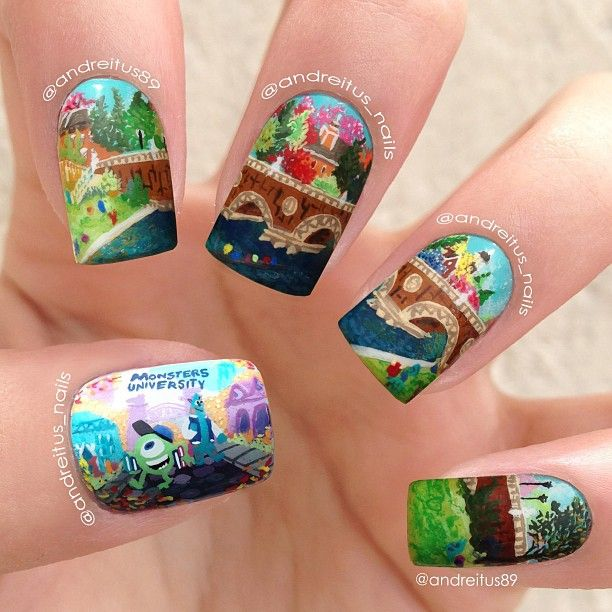 Monsters University by andreitus_nails #nail #nails #nailart
