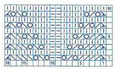 Double Wheat – Free Knitting Stitch chart. Need help with the knitting symbols? Look here: Japanese knitting symbols More Great Patterns Like This