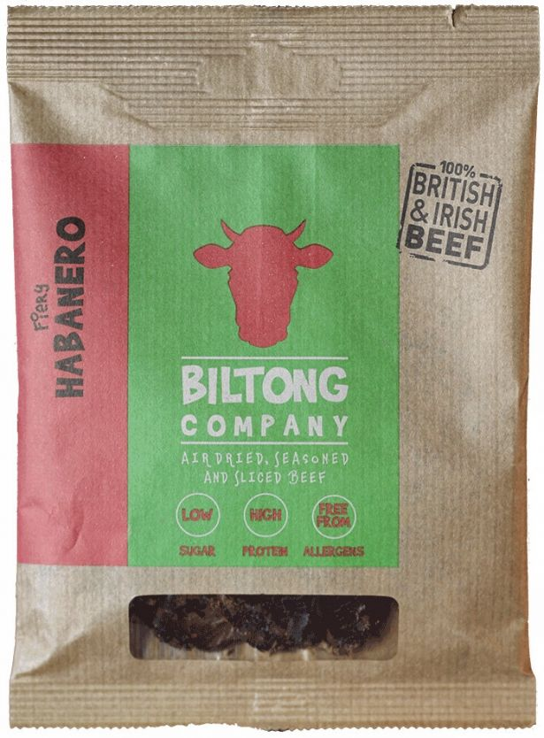 Habanero Chilli Biltong - 35g Bag - Made Using 100% British Grass-Fed Beef by The Chichester Biltong Company on Gourmly